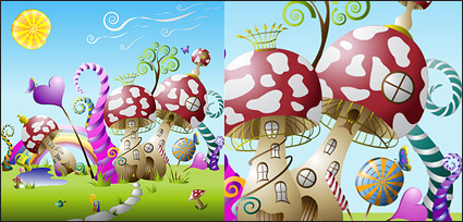 Link toCute fairy-tale world vector material