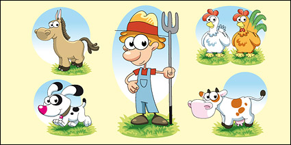 Link toLovely farm series vector material