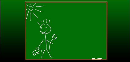 Link toChildren on the blackboard graffiti vector material