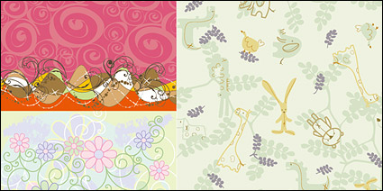 Link toLovely background pattern vector material