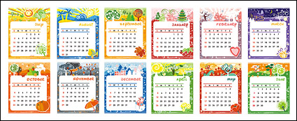 Link toLovely calendar template vector material