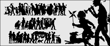 Link toPeople silhouette vector classical material