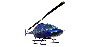 Blue helicopter picture material
