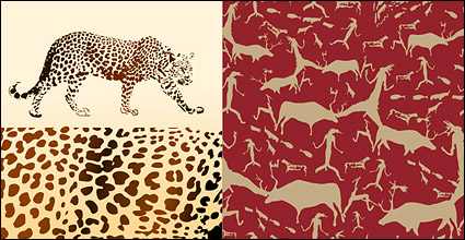 Link toVector background of leopard and animal material