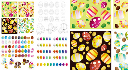 Link toEaster eggs vector variety of materials