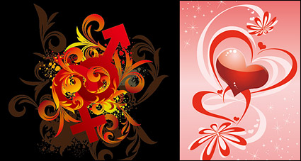 Link toHeart-shaped symbols male and female pattern vector