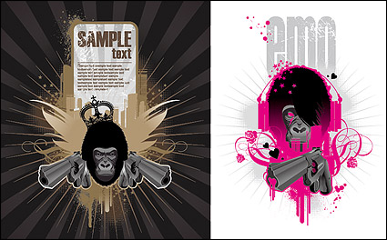 Link toThe theme of the trend vector illustrations orangutan material