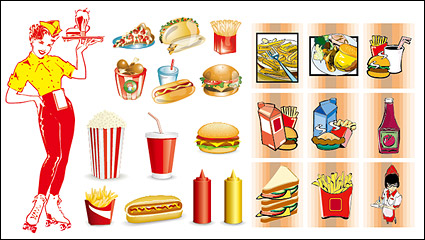 Link toFast food vector material