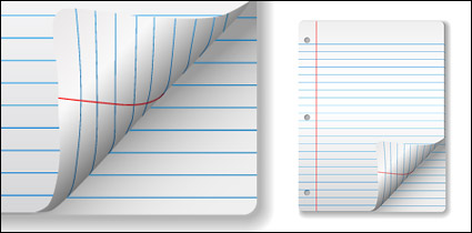 Link toVector blank notebook paper material