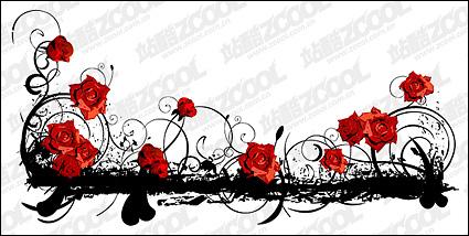 Link toBeautiful rose pattern vector material