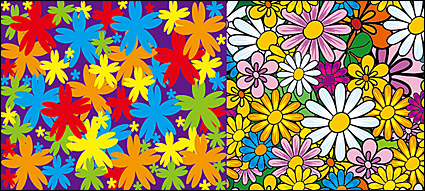 Link toLovely flowers vector background material