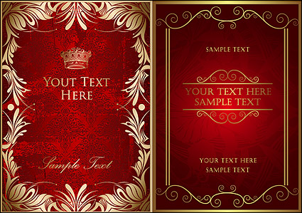 Link toOrnate gold-colored lace border vector
