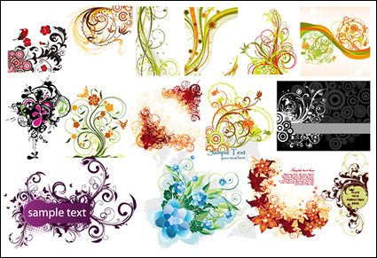 Link toExquisite fashion pattern vector material package-1