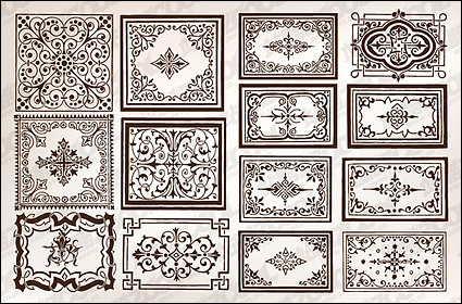 Link toVariety of practical european-style lace border vector material