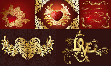 Link toContinental patterns of love series vector material