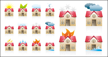 Link toA variety of state of the house icon vector material