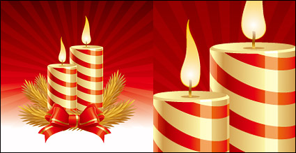 Link toChristmas candle vector fine material