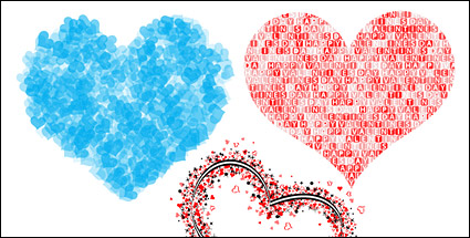 Link to3 special heart-shaped vector material-2