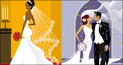 Link toWestern-style wedding material vector illustrations