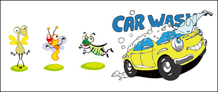 Link toInsects and vector cartoon car material
