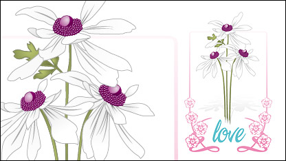 Link toVector love flowers lace material