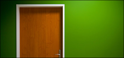 Green walls and doors picture material