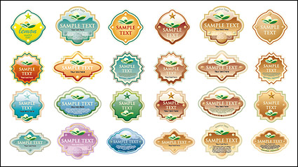 Link toVariety of crystal material style label vect