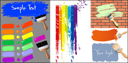 Link toPaint brush and ink marks vector material