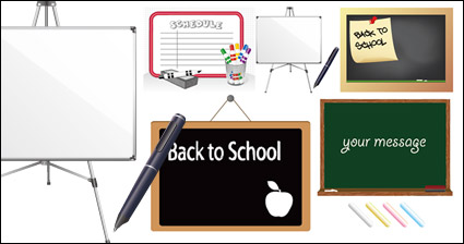 Link toBlackboard whiteboard material vector