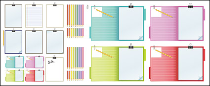 Link toPencil and recording sheet material vector