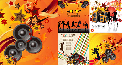 Link toThe trend of music vector background material