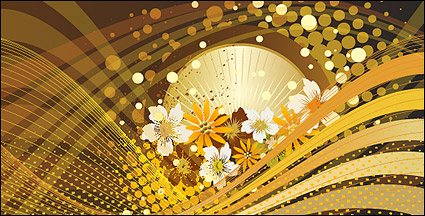 Link toFlower background vector lines and movement of the material