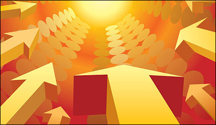 Link toThree-dimensional vector arrow background material