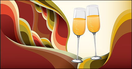 Link toChampagne glasses vector background material trends