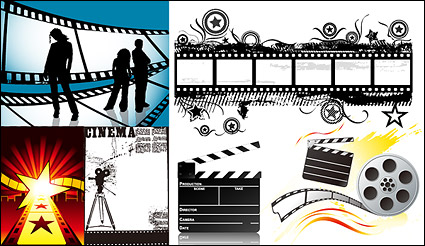 Link toThe theme of the film material vector