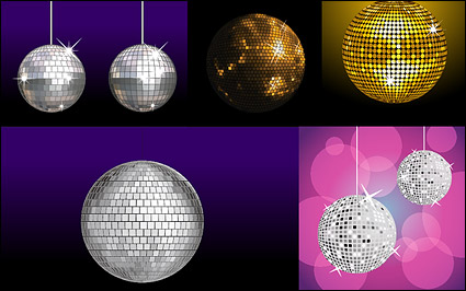 Link toVariety of material vector disco ball