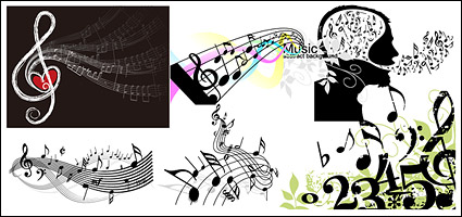 Link toVariety of theme music notes vector material