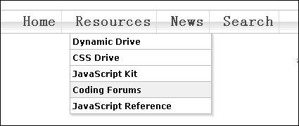 Link toCss drop-down menu navigation bar