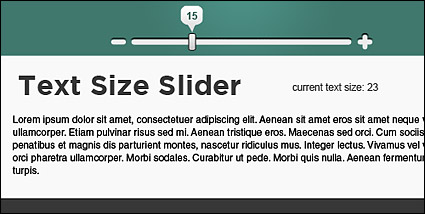 Link toJquery based on the article page adjust font size (js + css)