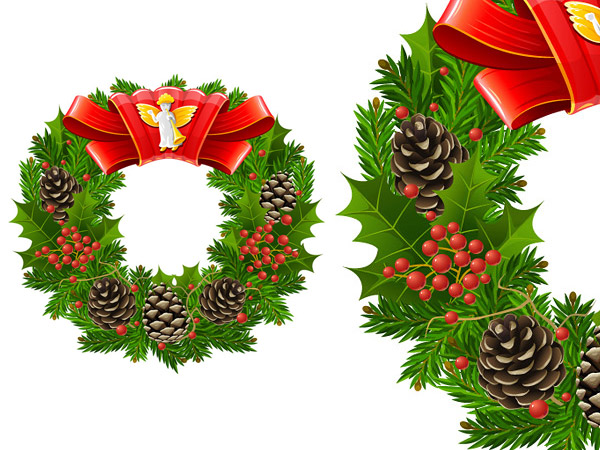 christmas garlands leaves download free vector psd flash. Black Bedroom Furniture Sets. Home Design Ideas