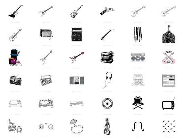guitar  speakers  radio  dj download free vector psd flash jpg