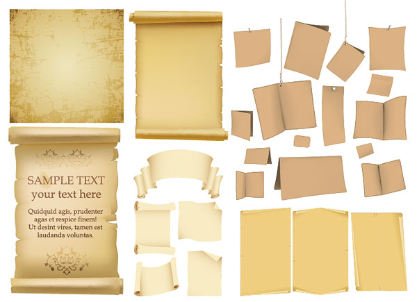 Old Paper Kraft Paper Old Books Of The Vector Material