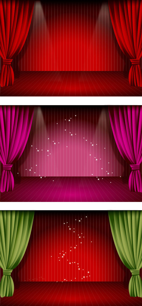 Stage curtain vector download free vectorpsdflashjpg for Theatre curtains psd