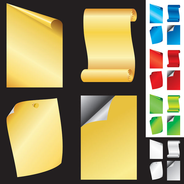 Blank Paper Roll Angle Vector Download Free Vector Psd