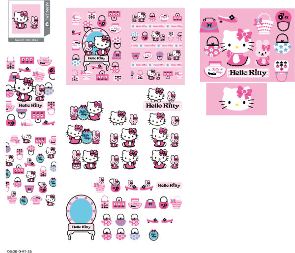 hello kitty vector, vector kitty