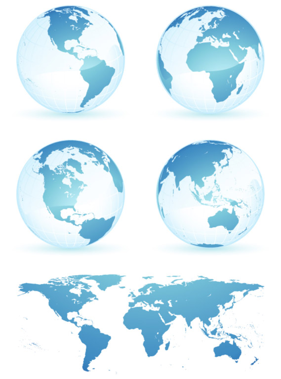 world map icon. eps format, including jpg preview, keyword: Vector earth, world map,