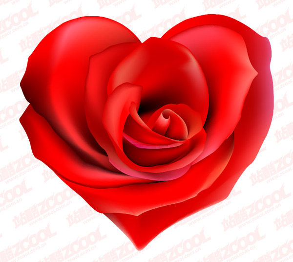 eps format, including jpg preview, keyword: heart-shaped vector, roses,