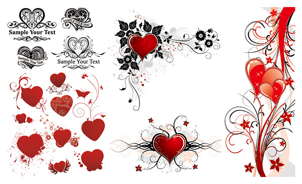 "Cool heart that reads ""Love"" on a pink, red, and black design perfect any"