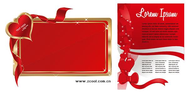 bulletin board, bulletin boards, love, Valentine's Day, vector material