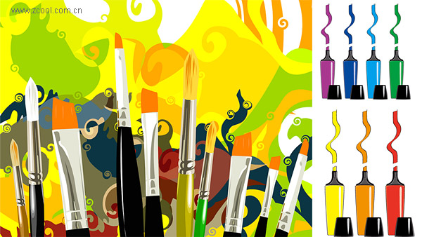 Vector Brush Pen And Mark Material Download Free Vector
